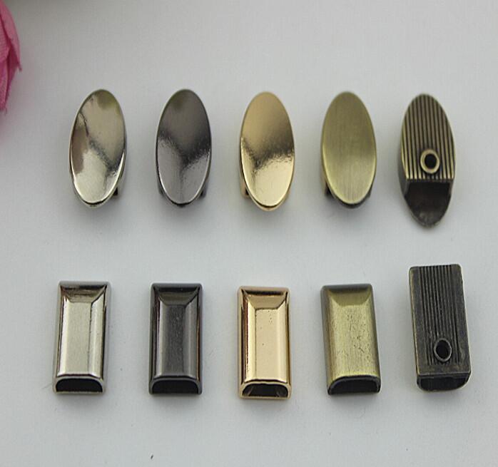 (100 Teile/los) Metallbeschichtung Verarbeitung Leder Handtaschen Zipper Schwanz Clip Dekorative Accessoires