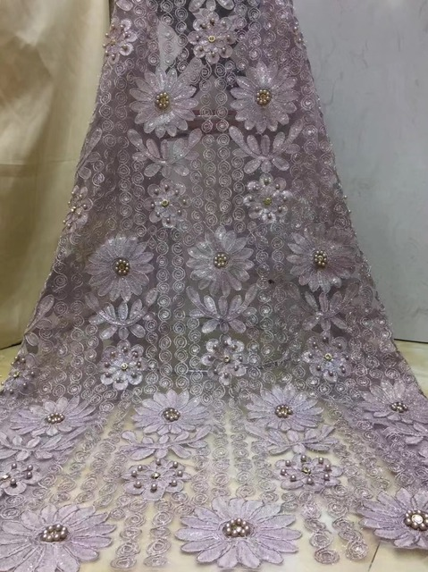 2019 Latest French Nigerian Laces Fabric High Quality Tulle African Laces Fabric Wedding African French Tulle Lace