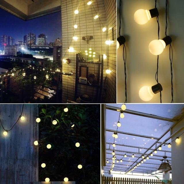 Garland String Lights Solar Powered Holiday Fairy Lights Guirlande Lumineuse 10/20 LEDs Bulb Hanging Umbrella Patio Garden Decor Solar Lamps
