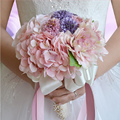 Gorgeous Colorful Wildflower Purple Artificial Wedding Bouquets 2017 Summer Garden Wedding Flower Bridesmaid Bride Bouquets
