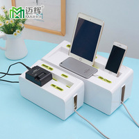 Plastic Wire Storage Box Cable Manager Organizer for ipad/phone Box Power Line Storage Cases Junction Box Household Necessities