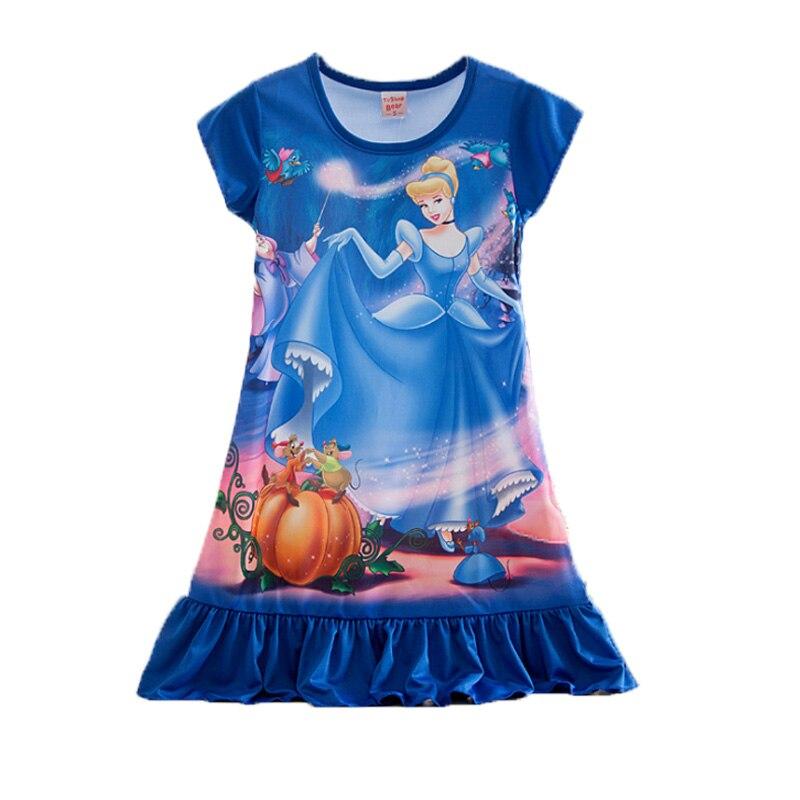 Hot Sale Girls Fairy Story Princess Summer Dress Cosplay Snow White Long Hair Cinderella For Kid Beach Dresses