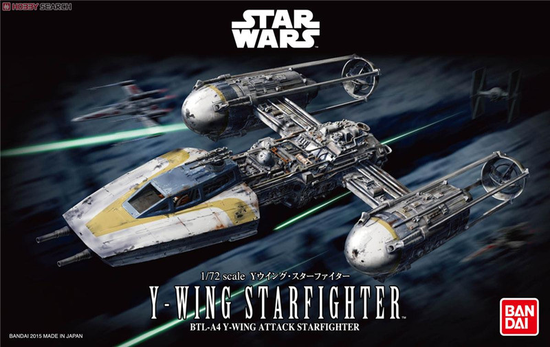 Free Shipping 2015 New Genuine Bandai 1:72 Scale Star Wars Y-Wing Starfighter Plastic Model Building Kits DIY Toys 2015 new genuine bandai 1 48 scale star wars snow speeder modified incom t 47 airspeeder plastic model building kits diy toys