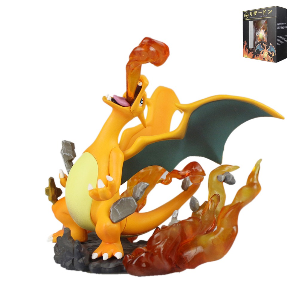 Pocket Monster PokeStudios  Japanese Anime Pocket Monsters Charizard Action Figure  Toys PVC Kids Gift Collection PKQ087 5 pcs lot cartoon anime wallet wholesale nintendo game pocket monster charizard pikachu wallet poke wallet pokemon go billetera