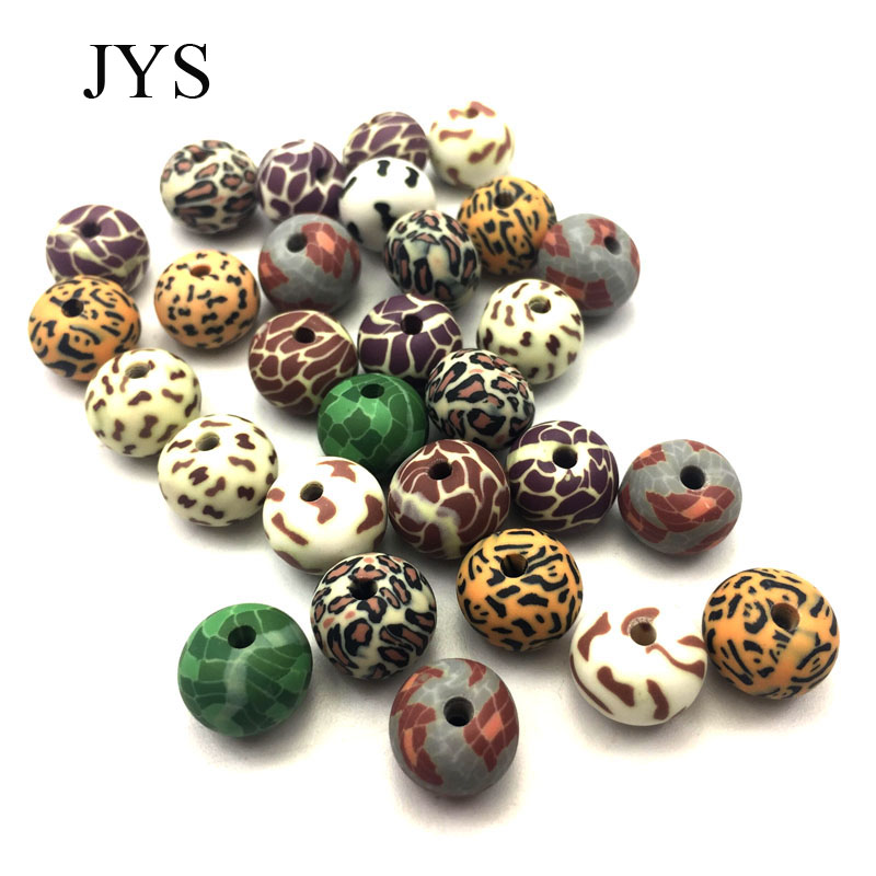 FREE SHIPPING 8MM 50PCS/LOT  FIMO BEADS ANIMAL LINE  BEADS POLYMER CLAY BEADS POLYMER CLAY SPACER  BEADS MIXED COLOR DIY JEWELRY