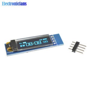 10PCS 0.91 Inch 128x32 IIC I2C Blue OLED LCD Display DIY Module 0.91