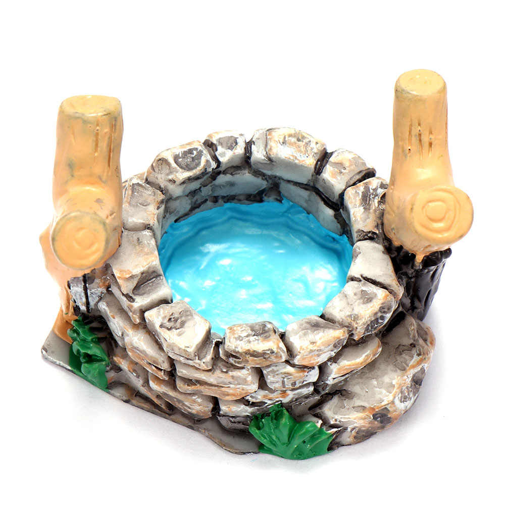 DIY Miniatur Mini Wasser Pool Fee Garten Rasen Ornament Für Berg Puppenhaus Home Decor Craft