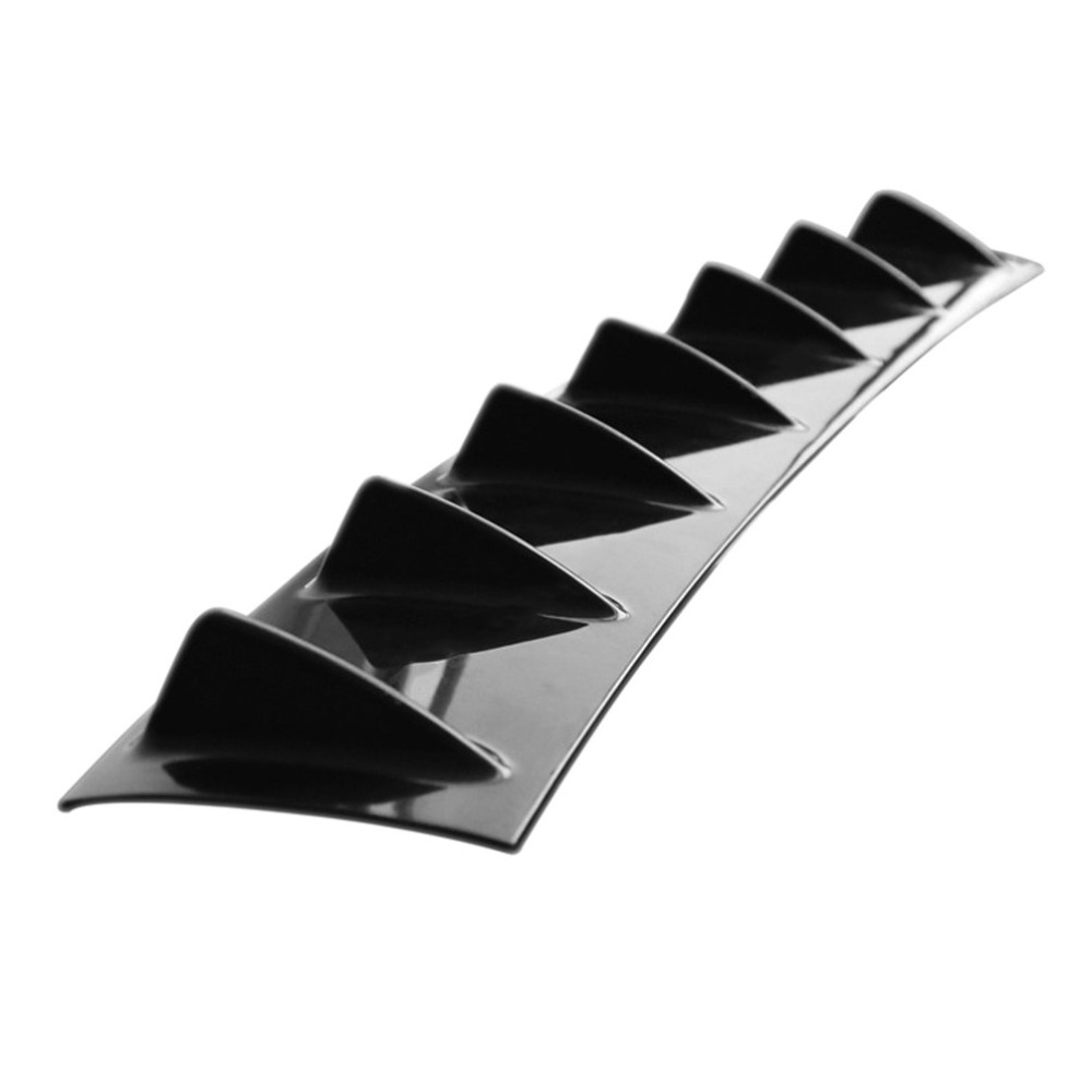 Universal Car Rear Bumper Lip Diffuser 7 Fin Shark Fin Style Car Back Bumper Spoiler Lip Splitter Car-Styling ABS Plastic Top