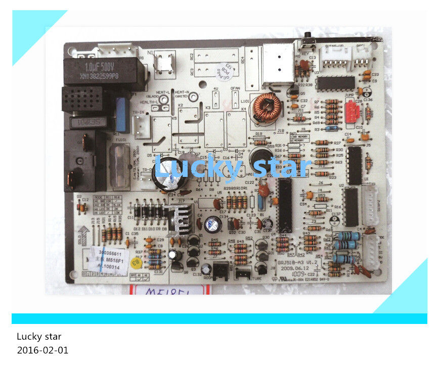 98% new for Gree Air conditioning computer board circuit board M518F1 30035561 GRJ518-A good working 95% new for haier refrigerator computer board circuit board bcd 198k 0064000619 driver board good working