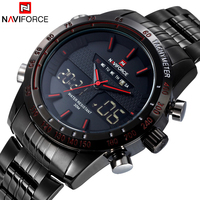 Luxury Brand NAVIFORCE Man Fashion Sport Watches Men Quartz Digital Analog Clock Men S Full Steel