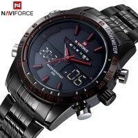 Luxury Brand NAVIFORCE Man Fashion Sport Watches Men Quartz Digital Analog Clock Men S Full Steel