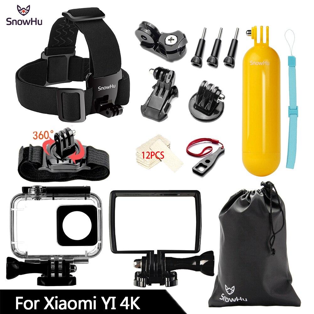Galleria fotografica SnowHu For Xiaomi Yi 4K Action Camera Accessories Monopod Stick Octopus Tripod For Xiaomi Yi 4K Yi2 II Accessories bundle ZH74