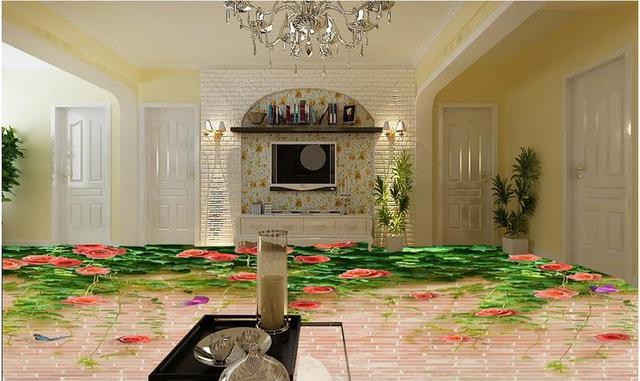 Custom d vloertegels behang plant bloemen d vloeren waterdicht