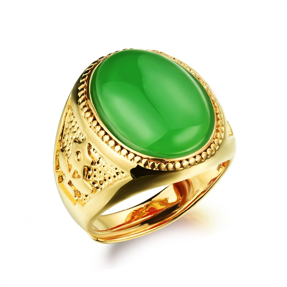 for bands fashion male accessories and ring green female in from item black on jewelry junxin wedding filled rings men women vintage gold emerald