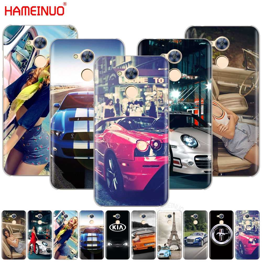 HAMEINUO sports racing Cars and Girls Cover phone Case for Huawei Honor V10 4A 5A 6A 6C 6X 7X 8 9 NOVA 2 2S PLUS LITE