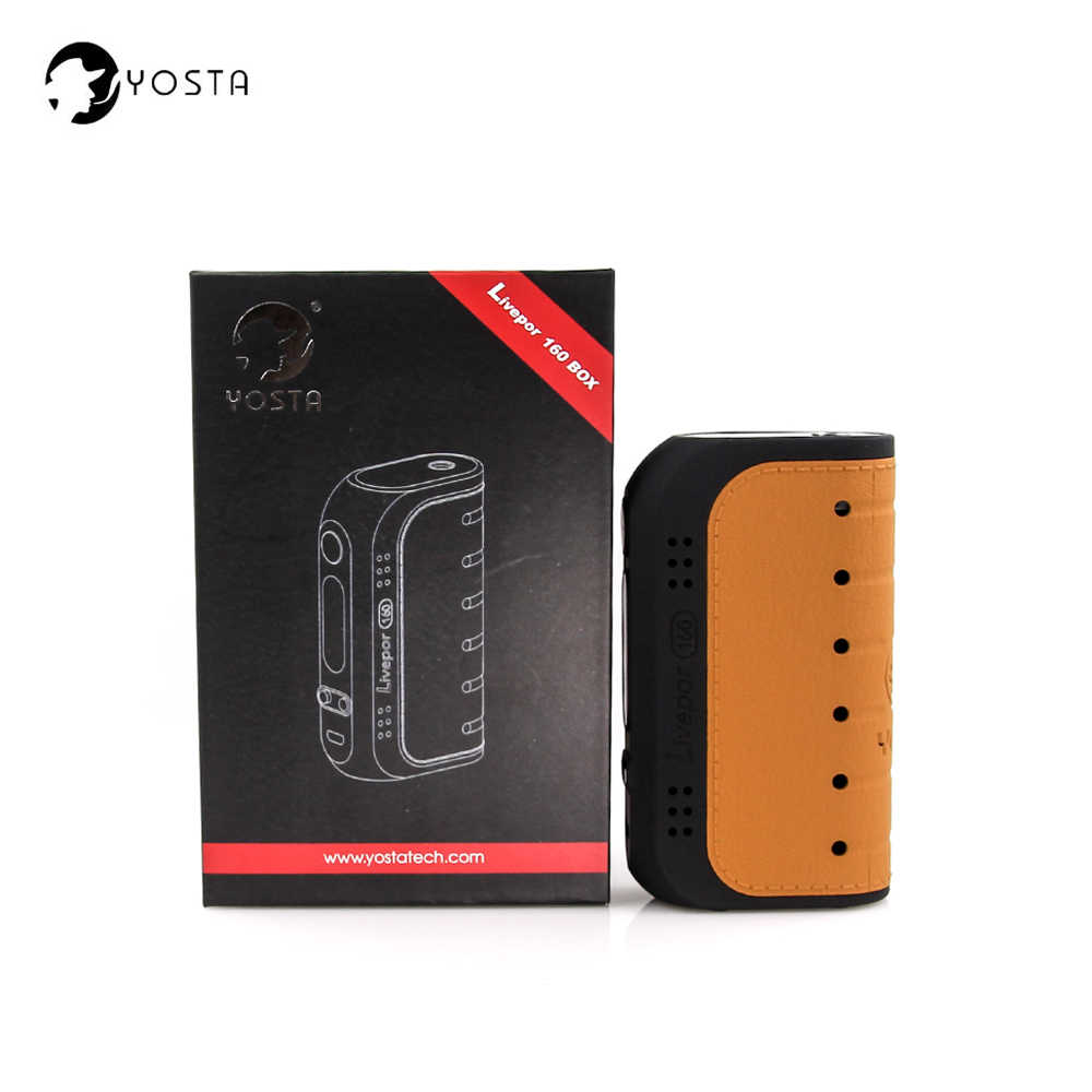 Original Yosta Livepor 160w Box mod VW MECH TCR Mode Electronic Cigarette Mod for vape Tank 510 thread E-Cigarette Atomizer