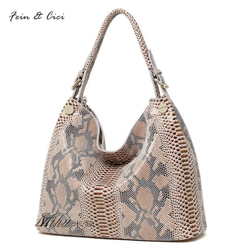 100% genuine leather bag serpentine pattern leather large hobos bag shoulder bag women autumn winter 2017 new arrivals 2016 new hobos 100