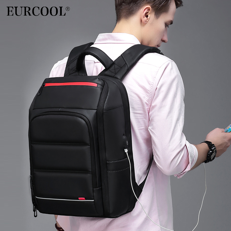 NEW 15 6 inch Laptop Backpack For Men Water Repellent Functional Rucksack with USB Charging Port