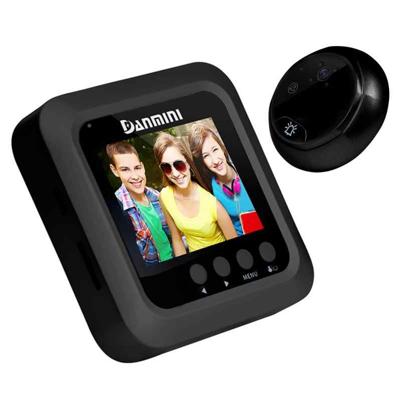 3.0-inch Electronic Door Viewer Infrared Night View Motion Detected Anti-burglary Visual Doorbell Home Use Hardware