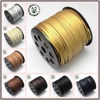 Faux Suede Cord Un Lato Che Copre con L'imitazione di Cuoio 2.7x2mm circa 90 m/roll