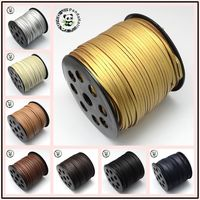 Faux Suede Cord One Side Covering With Imitation Leather Sienna 2 7x2mm About 90m Roll