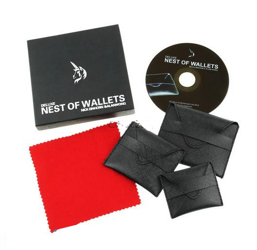 Deluxe Nest of Wallets - Magic trick,close up magic,street,Illusions,Stage Magic Props,mentalism,Fun,Accessories deluxe head chopper magic trick stage closeup fire comedy accessories