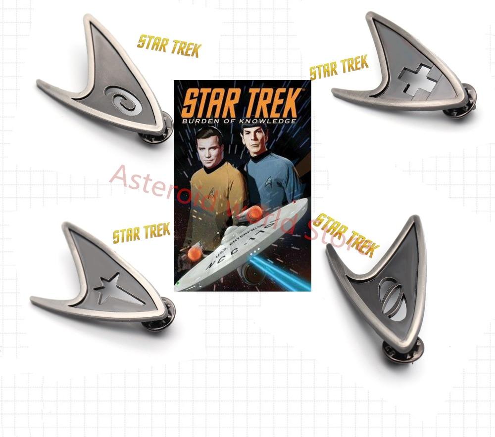 Movie Star Trek Badge Starfleet Command Division 1:1 Handmade Badge Brooch Pin Metal Accessories Cosplay prop