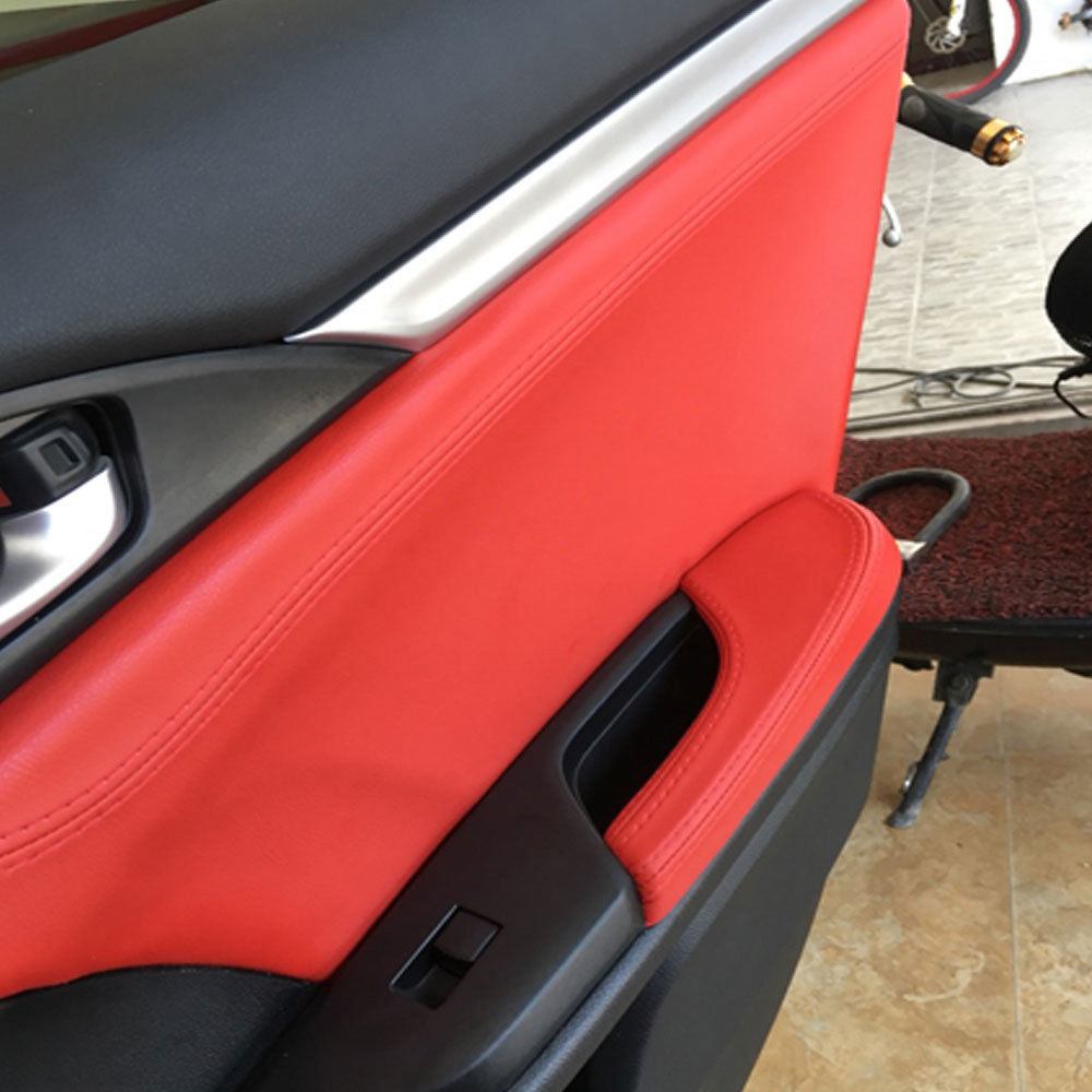 8x Car Interior Door Trim Decals Cover For Honda Civic 10th 2016 2017 Universal
