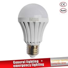 hot deal buy led emergency light led bulb e27 led lamp 5w 7w 9w  rechargeable battery lighting lamp for outdoor lighting bombillas flashlight