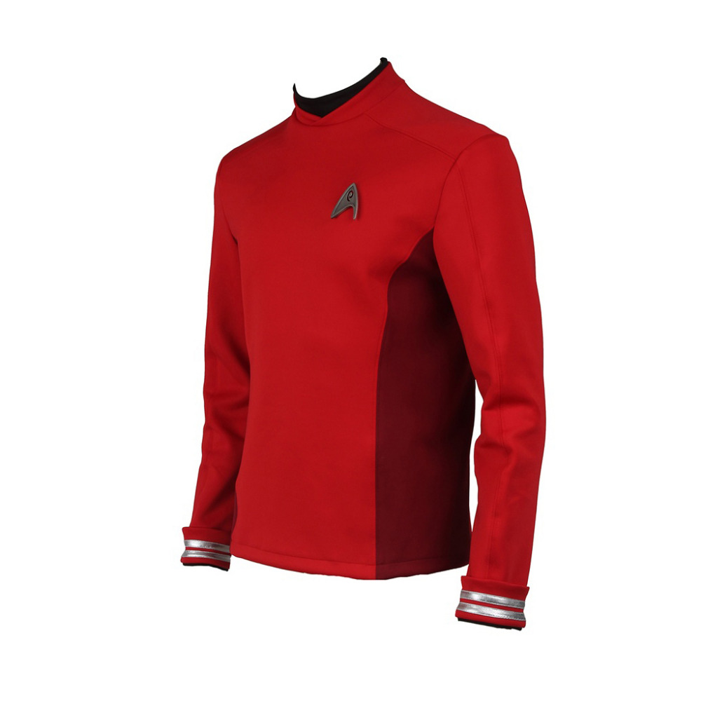 Star Trek Cosplay Star Trek Beyond Scotty Costume Red Top Shirt Uniform Suit Cosplay Costume Halloween Carnival Costume Cosplay