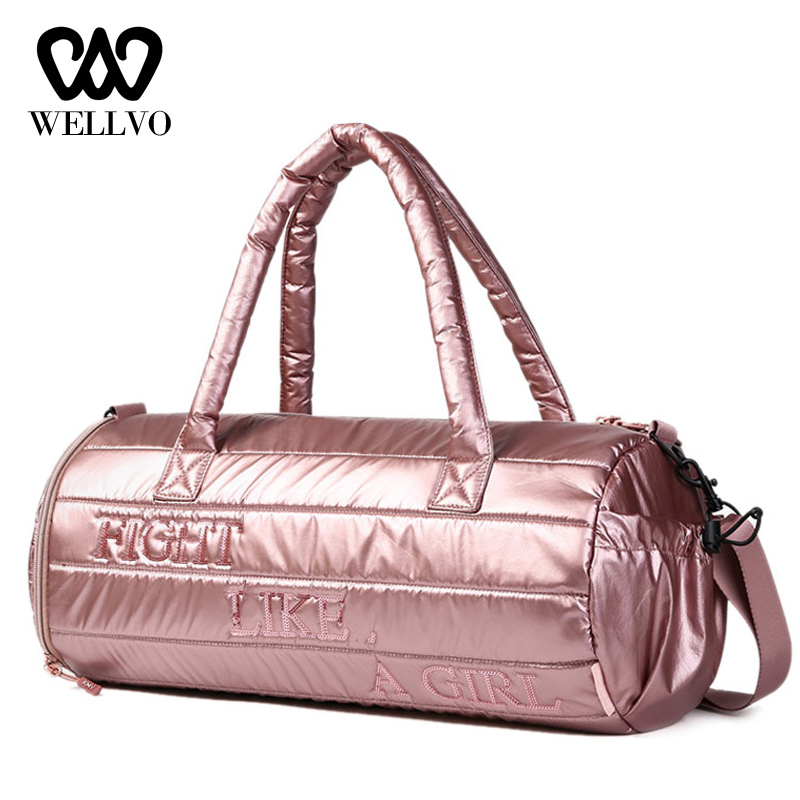Fashion Women Glitter Bags Tote Fitness Bag Travel and Swimming Handbag Luggage Bags Sack Female Shoulder