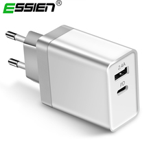 30W Type-C PD Charger Power Delivery Phone Charger Adapter For Samsung S9 S8 Xiaomi Huawei USB-C Portable PD Charger EU/US/UK [genuine] 61w usb phone charger us uk eu replaceable plug type c pd fast charging power adapter for macbook laptop smartphones