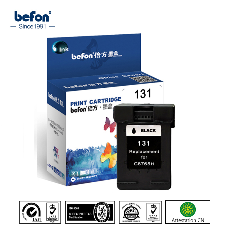 Befon Compatible 131 cartucho de tinta HP 131 HP131 para Deskjet serie 460, 5740, 5940, 6520, 6540, 2570, 5743, 5943 impresora