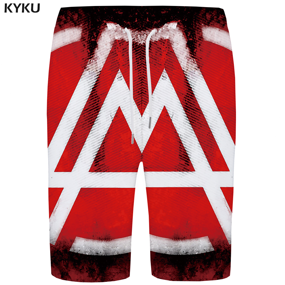 Kyku Wave Board Shorts Men Colorful Beach Short Pants 3d Printed Shorts Quick Silver Phantom Vintage Sexy Mens Shorts Summer New Men's Clothing