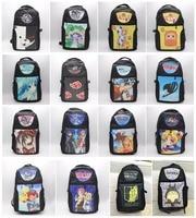 Anime Hatsune Miku Fairy Tail Totoro NARUTO ONE PIECE Pikachu Backpack Cartoon Canvas Shoulder Bag Schoolbag