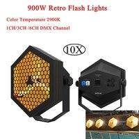 10Pcs/Lot Retro Flash Light DJ Equipment 3X300W Halogen Lamps DMX512 For DJ Disco Transport for Nightclub Wedding Stage Lighting