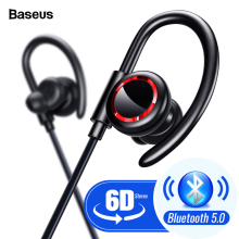 Baseus S17 Sport Wireless Earphone Bluetooth 5.0 Earphone Headphone For Xiaomi iPhone Ear Phone Buds Handsfree Headset Earbuds fatmoon x19c bluetooth earphone earhook wireless headset in ear bluetooth headphone handsfree sport microphone for xiaomi iphone