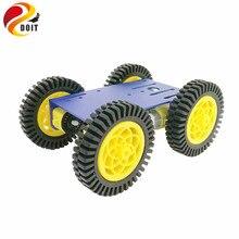 Jogo esperto do carro do robô rc com chassi de alumínio de 2mm, motor de 4 pces tt, roda de borracha de 4 pces 80mm para o projeto de arduino