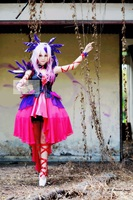 Guilty Crown Ouma Mana cosplay costume avec plume