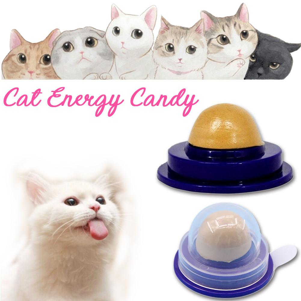 Cat Food Cat Vitamin Mint Rounded Toy Health Cat Solid Energy Candy Pet Toy Ball Snack Nontoxic Kitten Licking Snack image