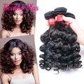 Beleza tia cabelo fumi peruano não transformados 7a fumi cabelo 4 bundles humano saltitante onda fumi hair extensions DHL frete grátis