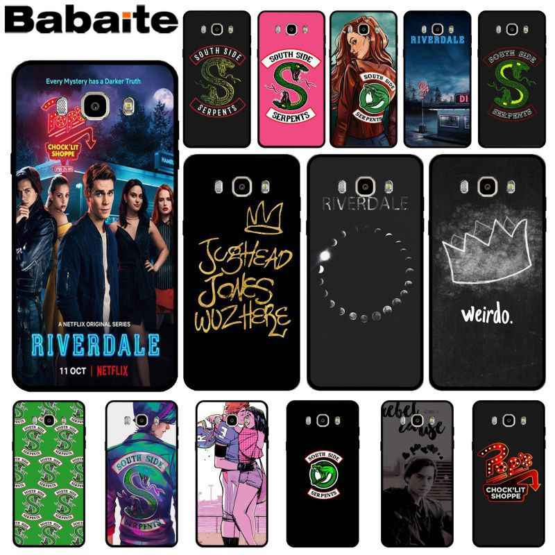 Babaite Riverdale South Side Serpents Silicone Soft TPU phone Case Cover for Samsung 2015J1 J5 J7 2016J1 J3 J5 J7 Note3 4 5