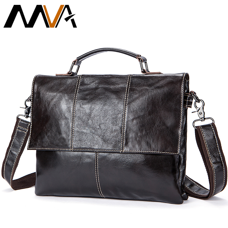 2019 Men Retro Briefcase Business Shoulder Bag Genuine Leather Handbag Bags Leather Laptop Messenger Bags Men