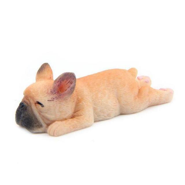 Kawaii sleepy simulazione bulldog francese giocattolo resina