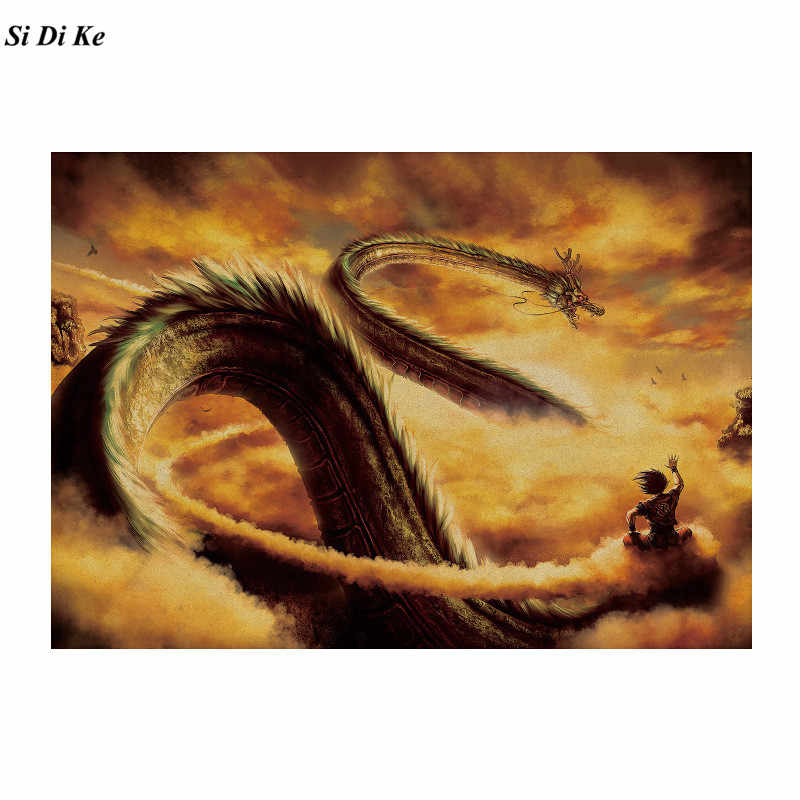 الكرتون ملصق الفيلم لعبة دراغون بول كرافت ورقة الرجعية ملصق جدار ملصقا الزخرفية اللوحة المنزل الديكور 51.5x36 سنتيمتر