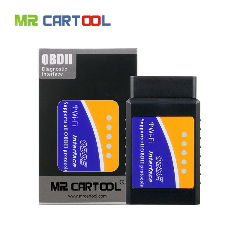 Mr Cartool ODB2 ELM 327 V1.5 Wifi Bluetooth Car OBD 2 II ELM327 Auto Scanner Diagnostic Tool Pic18f25k80 For Android IOS Phone ancel obd2 v1 5 elm327 v1 5 pic18f25k80 elm327 usb obd 2 scanner automotive car diagnostic tool scanner for car odb2 elm327 1 5