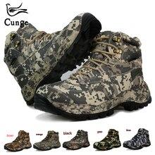 Мужские походные ботинки; Водонепроницаемая Обувь для охоты; тактическая обувь для кемпинга; зимние ботинки для альпинизма; горные ботинки из натурального нейлона; нескользящие мужские ботинки
