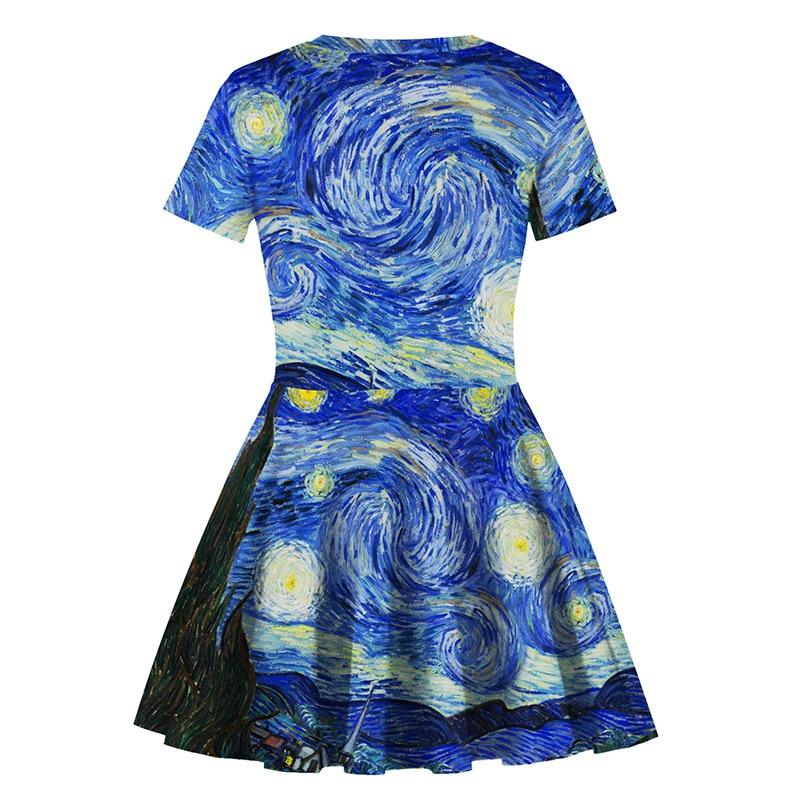 New Summer Dress Girl Star Print Dress Teen Princess Party Dress Fashion Short Sleeve Dress in Dresses from Mother Kids