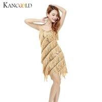 KANCOOLD Dress Woman Flapper Fringe Gold Vintage Great Gatsby Sequin Party Slip Dresses Sexy Dresses Evening