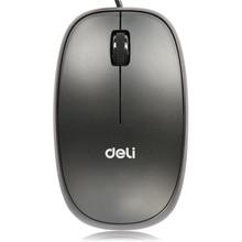 Precisão de mouse com fio óptico interface usb artigos de escritório papelaria deli 3715